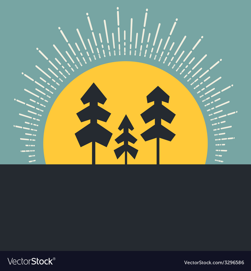 Forest concept vector | Price: 1 Credit (USD $1)