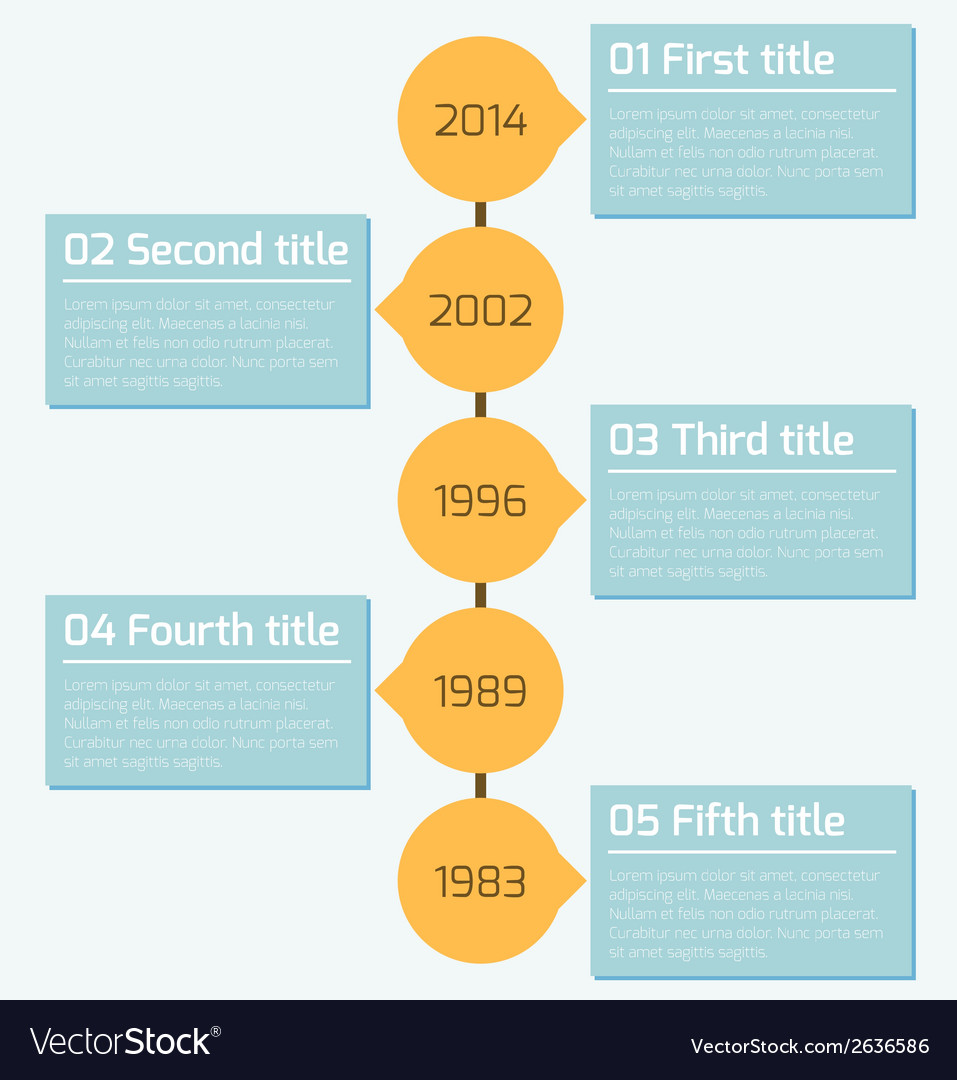 Modern timeline infographics design template vector | Price: 1 Credit (USD $1)