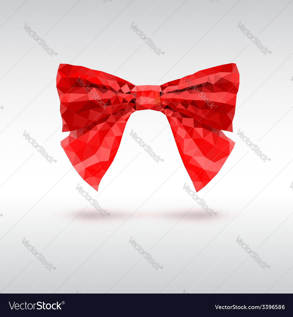 Red bow of triangles geometric vector | Price: 1 Credit (USD $1)