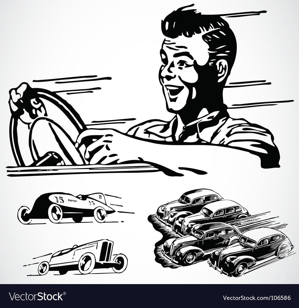 Retro car graphics vector | Price: 1 Credit (USD $1)