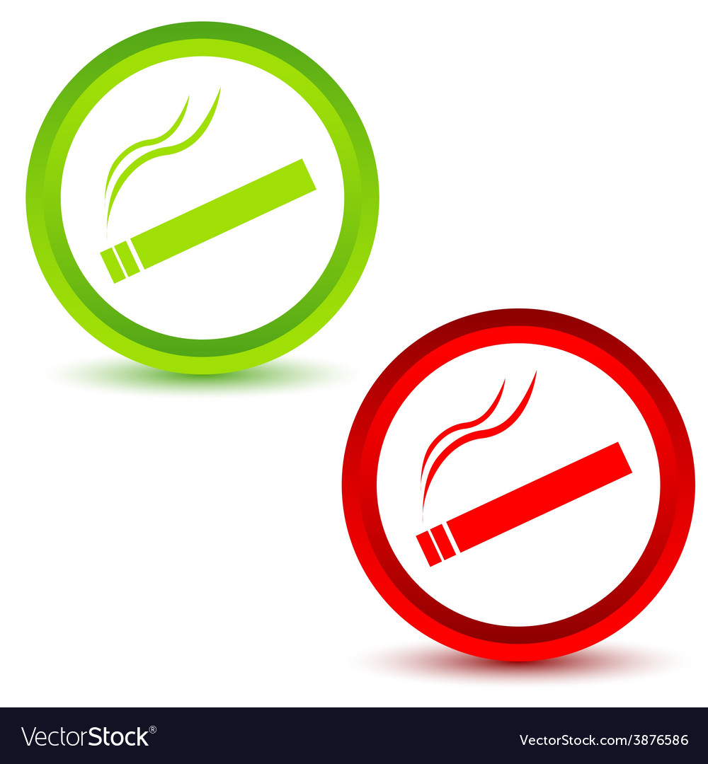 Smoking icons set vector | Price: 1 Credit (USD $1)
