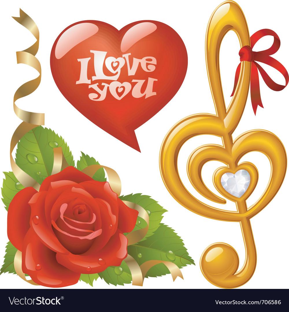 Valentines day set vector   Price: 3 Credit (USD $3)