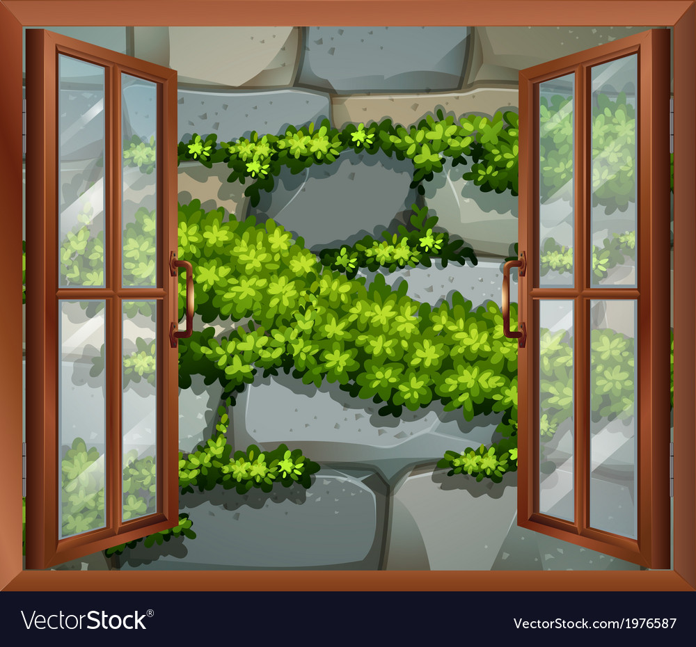 A window near the stonewall vector | Price: 1 Credit (USD $1)