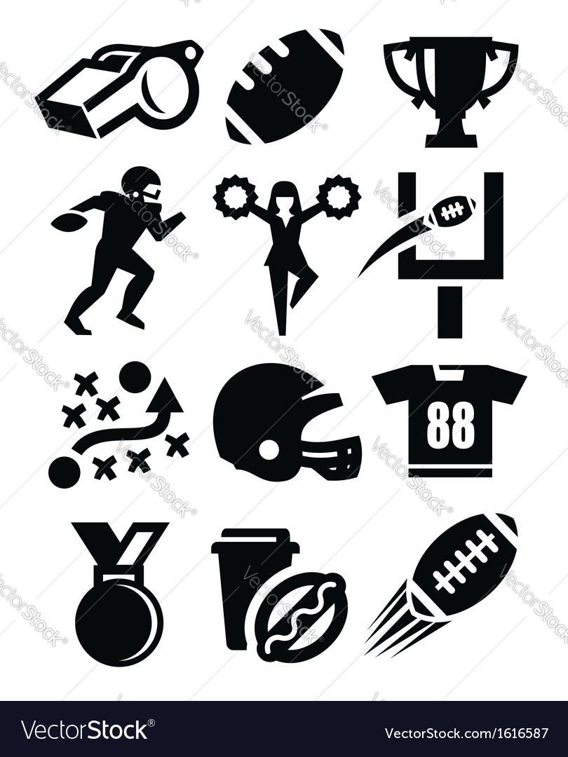 American football icon vector | Price: 1 Credit (USD $1)