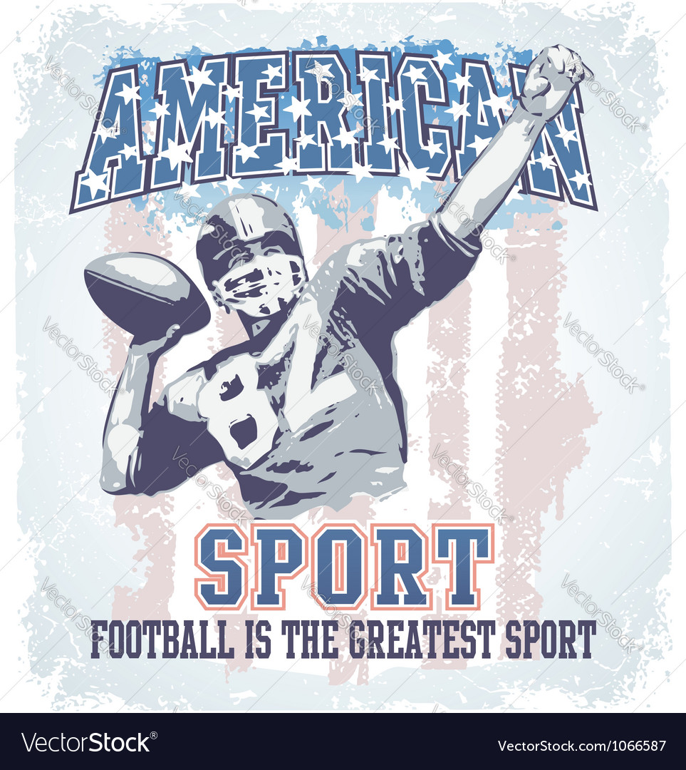 American sport football vector | Price: 1 Credit (USD $1)