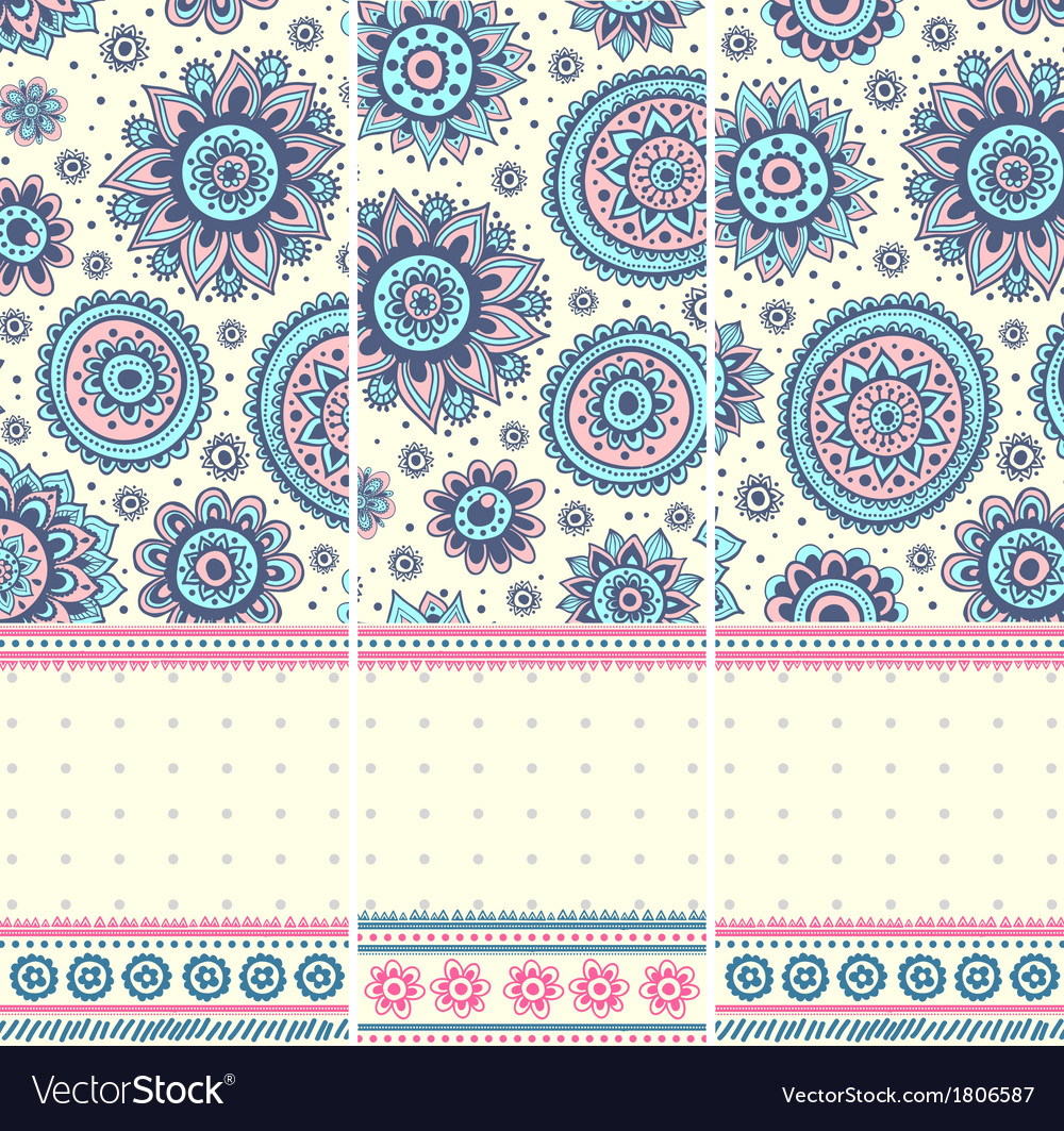 Beautiful vintage floral ornate banners vector | Price: 1 Credit (USD $1)