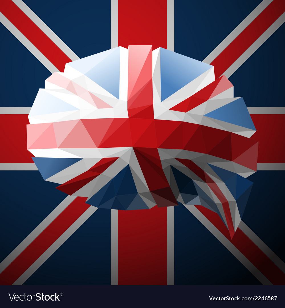British flag in the form of a speech bubble vector | Price: 1 Credit (USD $1)