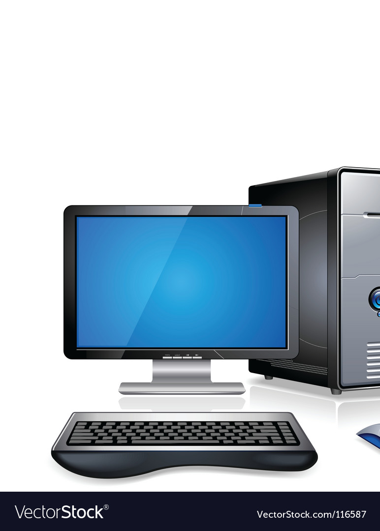 Computer workstation vector | Price: 1 Credit (USD $1)
