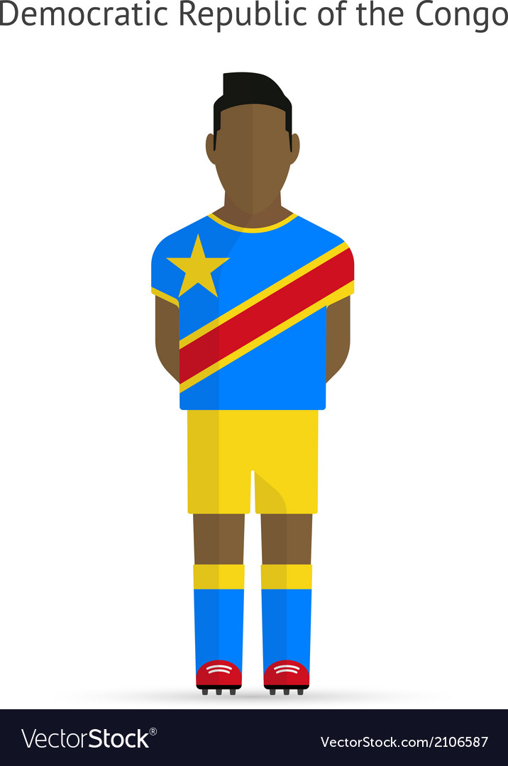 Democratic republic of the congo football player vector | Price: 1 Credit (USD $1)