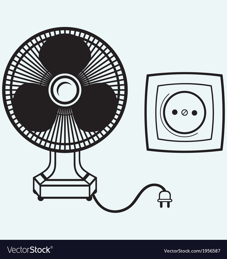 Electric fan vector | Price: 1 Credit (USD $1)