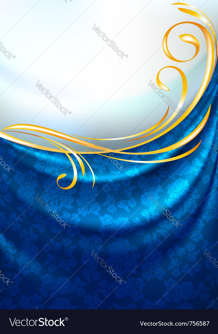 Fabric curtain background gold vignette vector | Price: 1 Credit (USD $1)