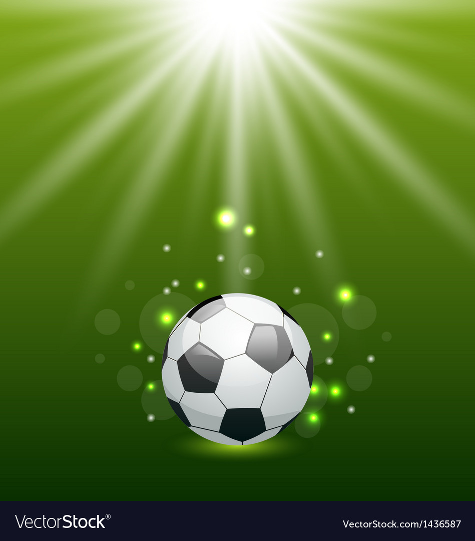 Football background with ball and light effect vector | Price: 1 Credit (USD $1)