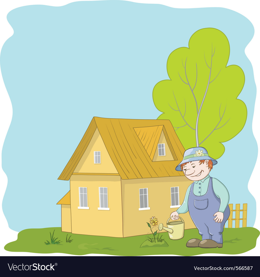 Gardeners vector | Price: 3 Credit (USD $3)