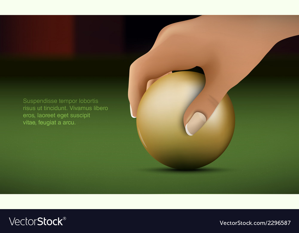 Hand puts the ball vector | Price: 1 Credit (USD $1)
