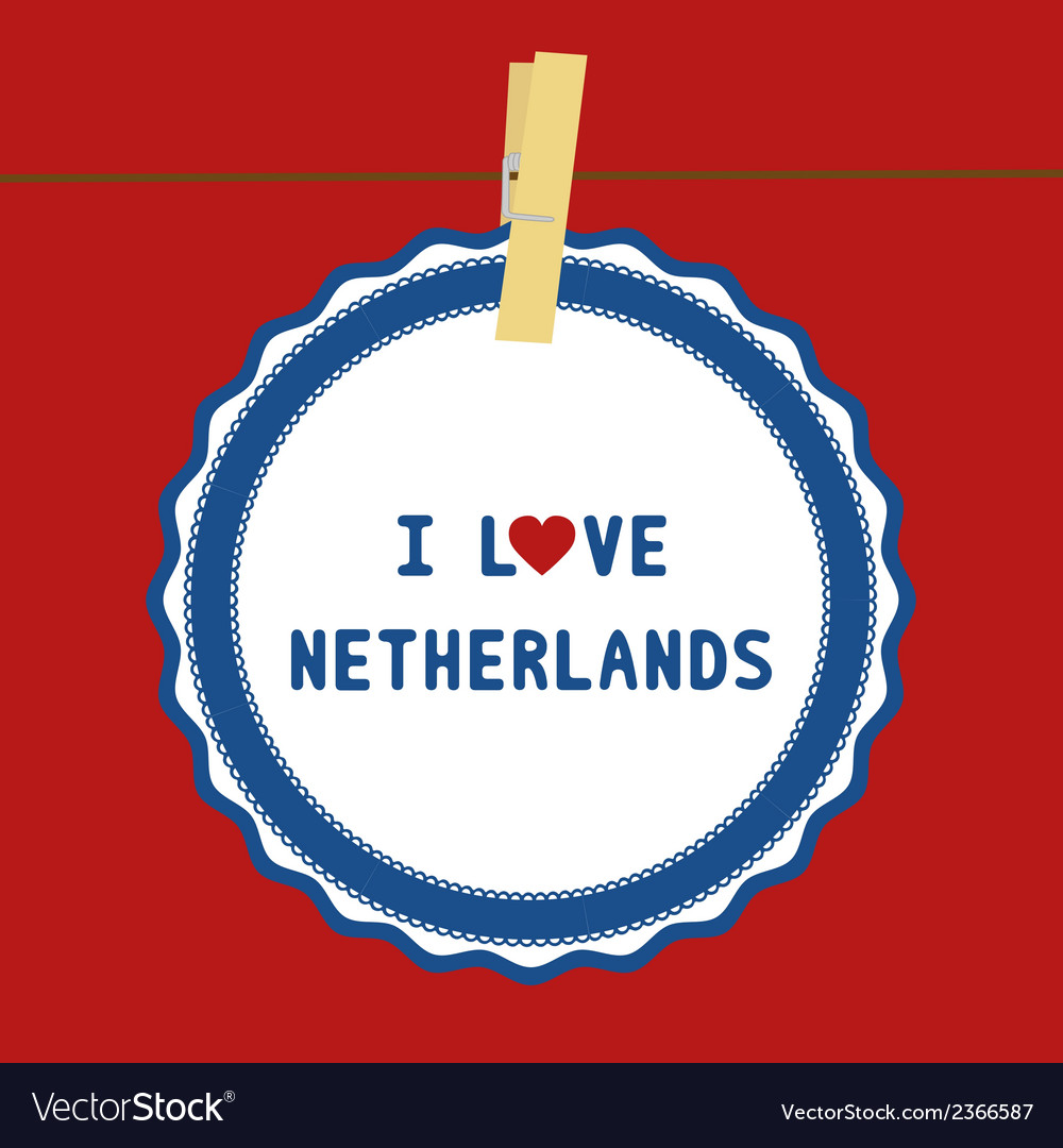 I love netherlands4 vector | Price: 1 Credit (USD $1)