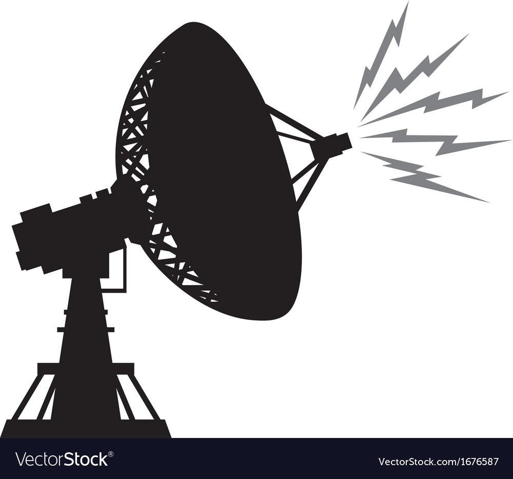 Radar silhouette vector | Price: 1 Credit (USD $1)