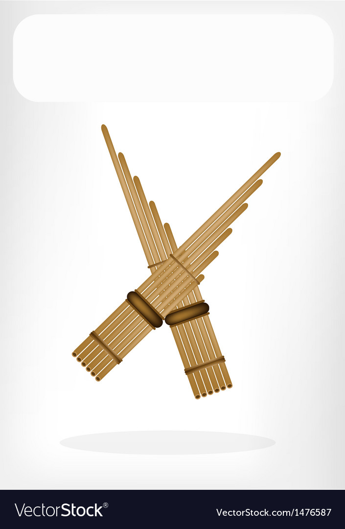Three musical pan flute vector | Price: 1 Credit (USD $1)