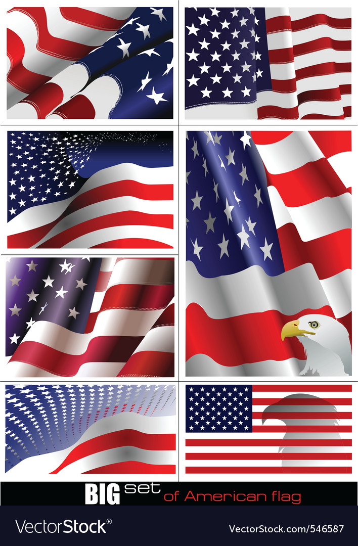 Us flag vector | Price: 1 Credit (USD $1)