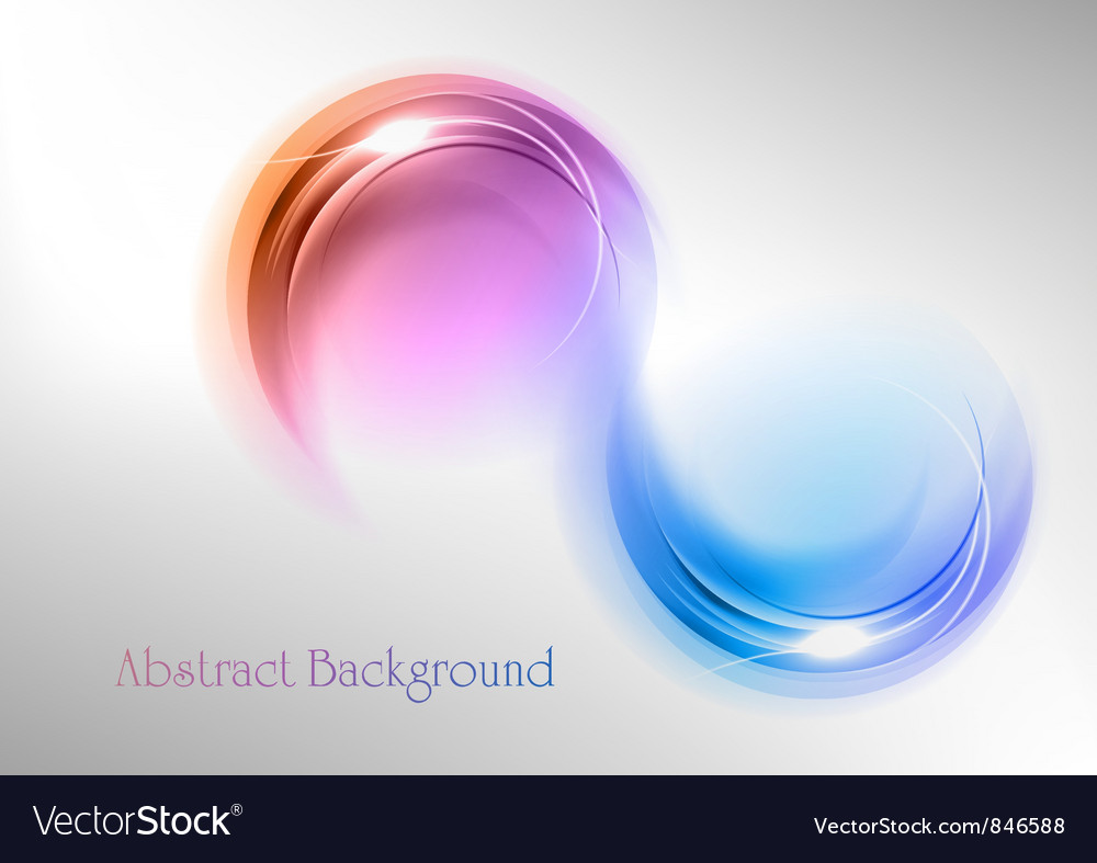 Abstract shape smoke double white blue purple vector | Price: 1 Credit (USD $1)