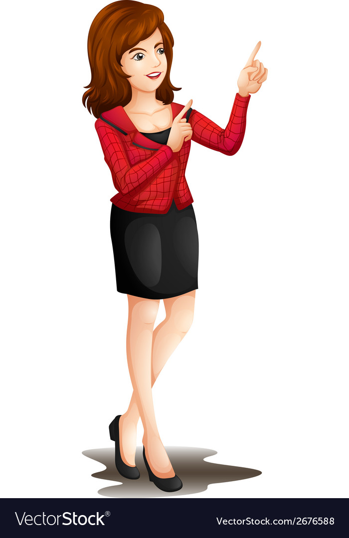 An office girl vector | Price: 1 Credit (USD $1)