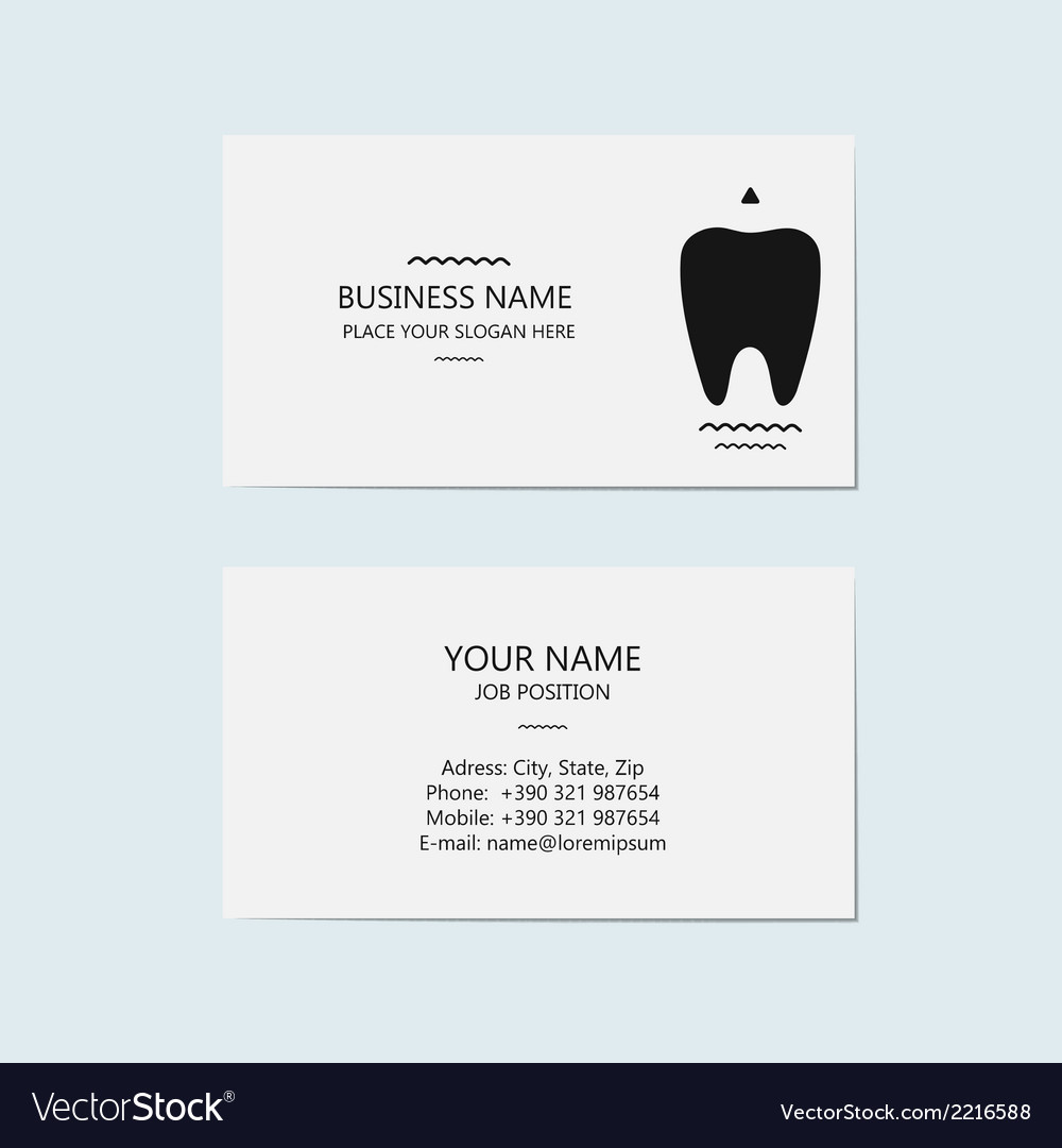Business card for a dentist vector | Price: 1 Credit (USD $1)