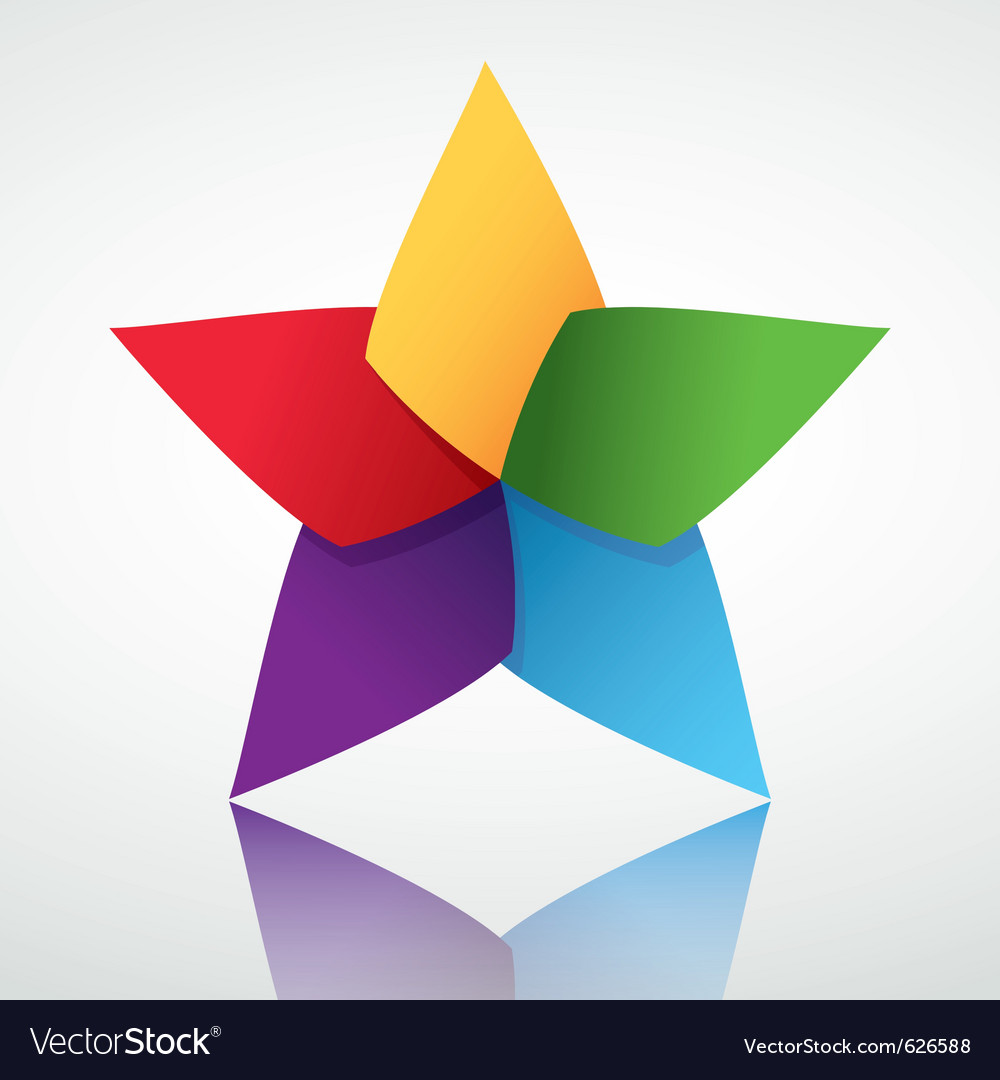 Colorful star symbol vector | Price: 1 Credit (USD $1)