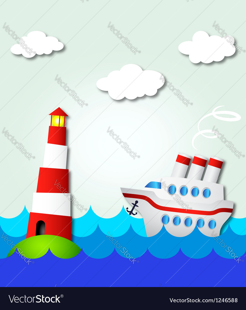 Cruise ship vector | Price: 1 Credit (USD $1)