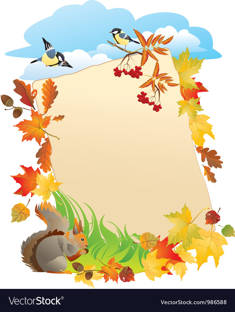 Frame with autumn leafs vector   Price: 1 Credit (USD $1)