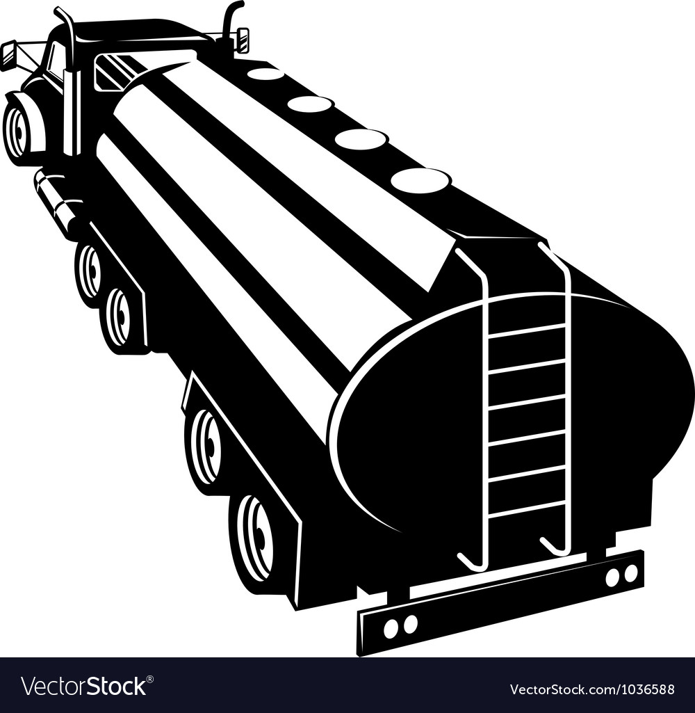 Fuel tanker truck retro vector | Price: 1 Credit (USD $1)