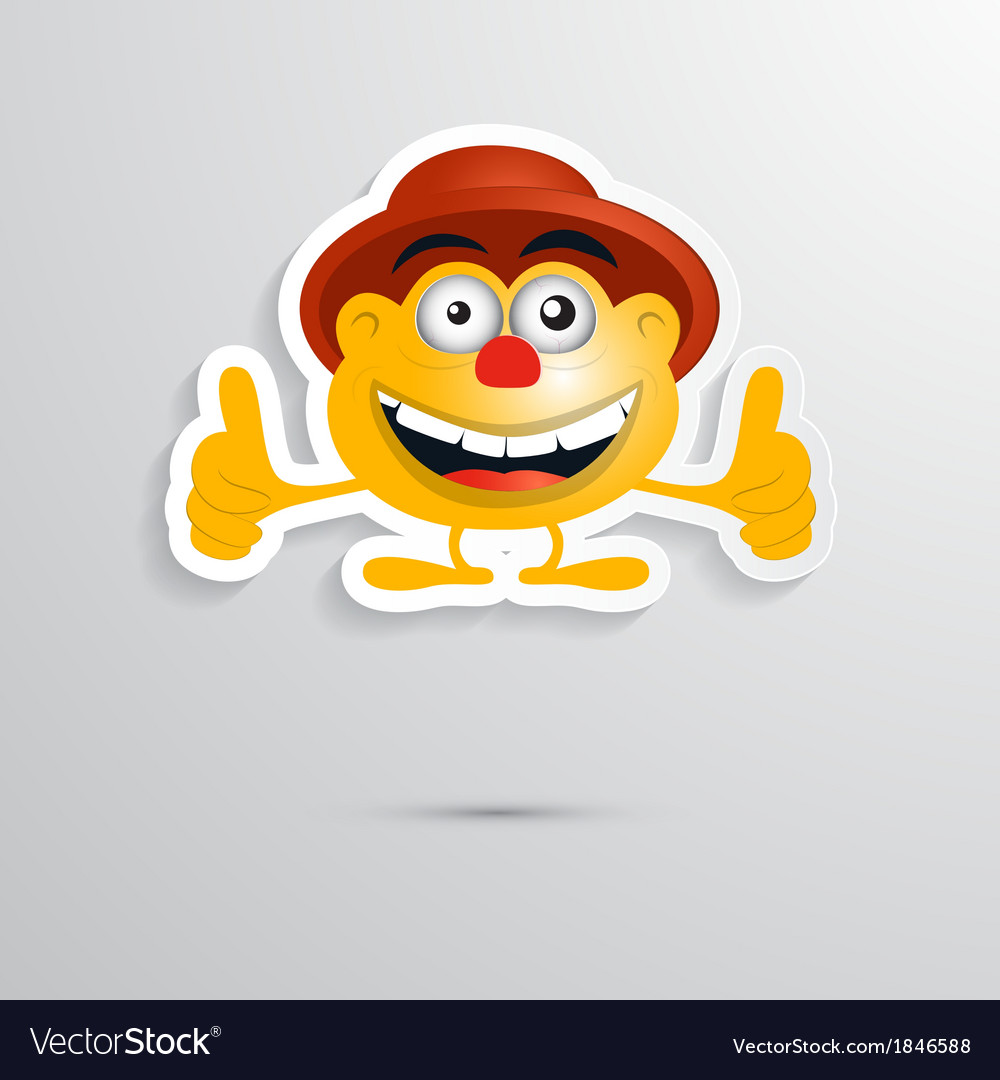 Funny orange man with hat made from paper icon vector | Price: 1 Credit (USD $1)