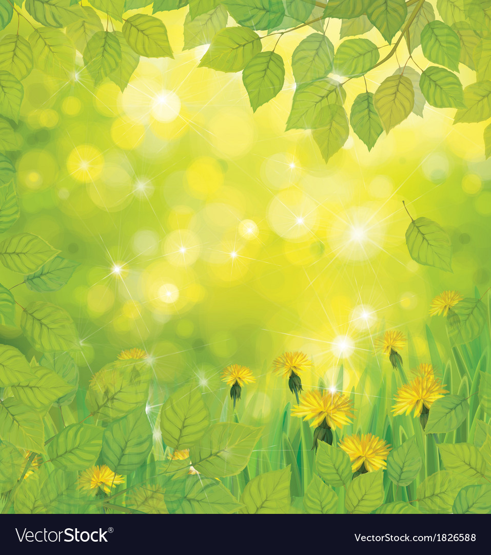 Green flowers background vector | Price: 1 Credit (USD $1)