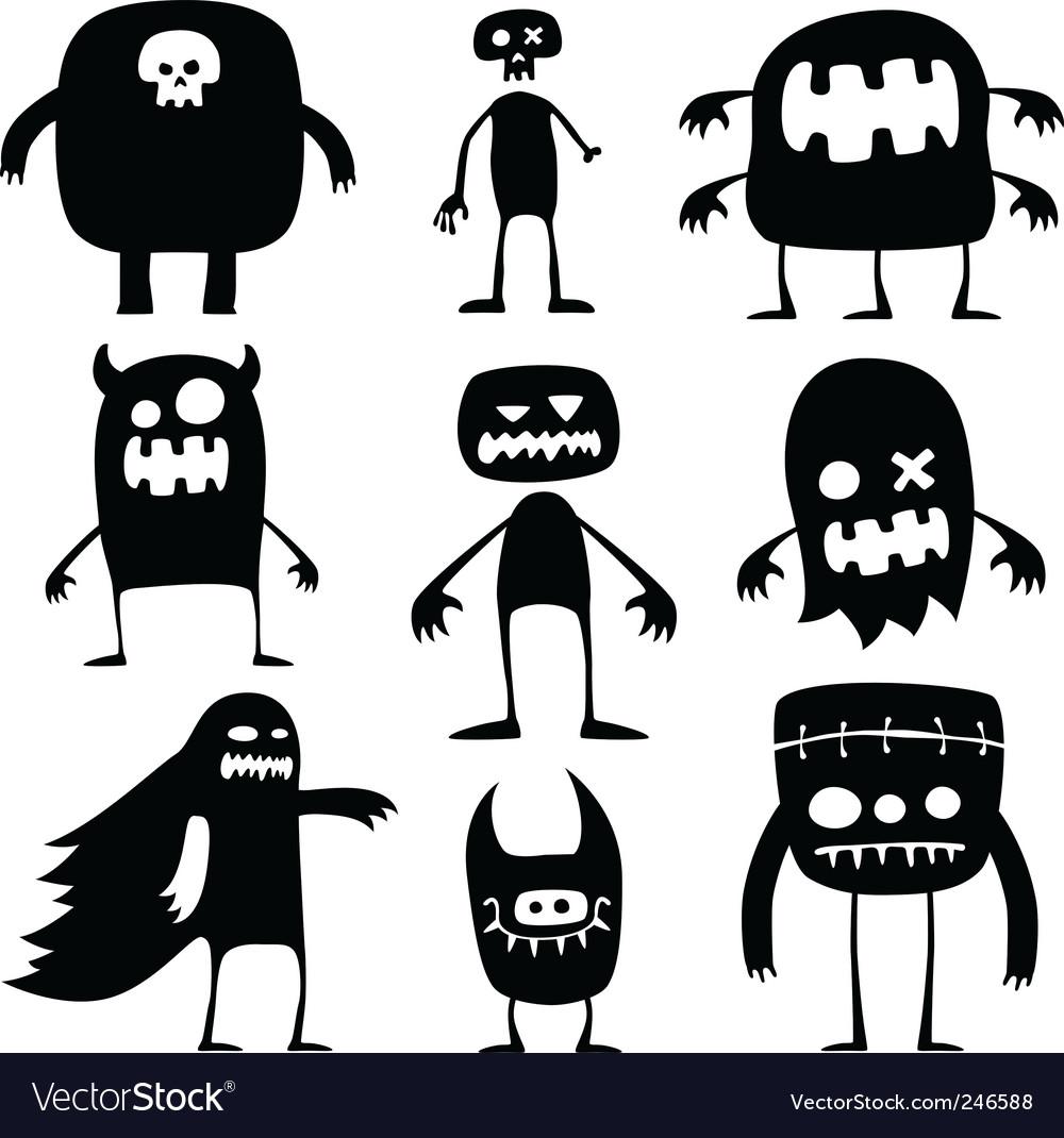 Halloween monsters vector | Price: 1 Credit (USD $1)