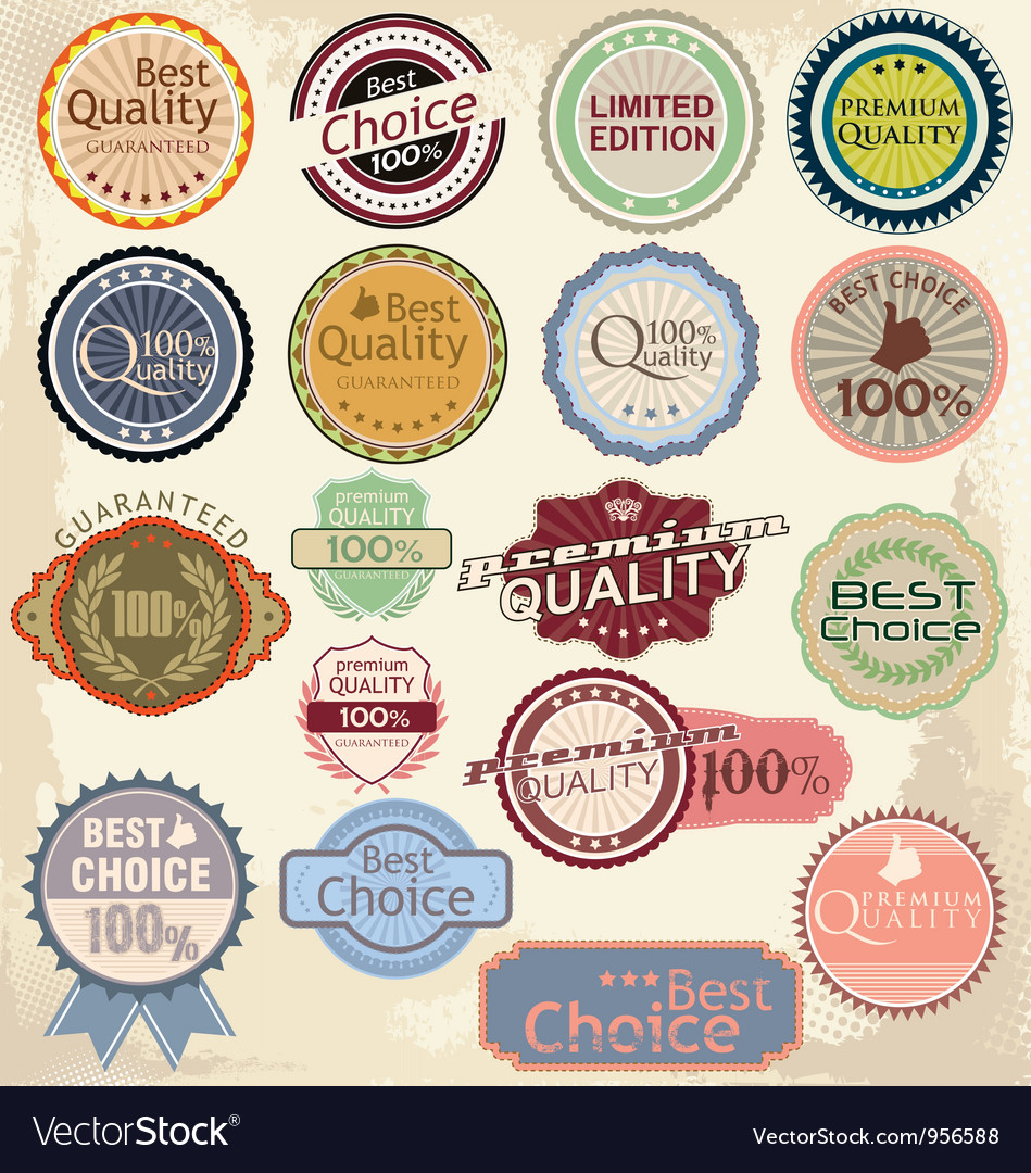 Retro label banner collection vector | Price: 1 Credit (USD $1)