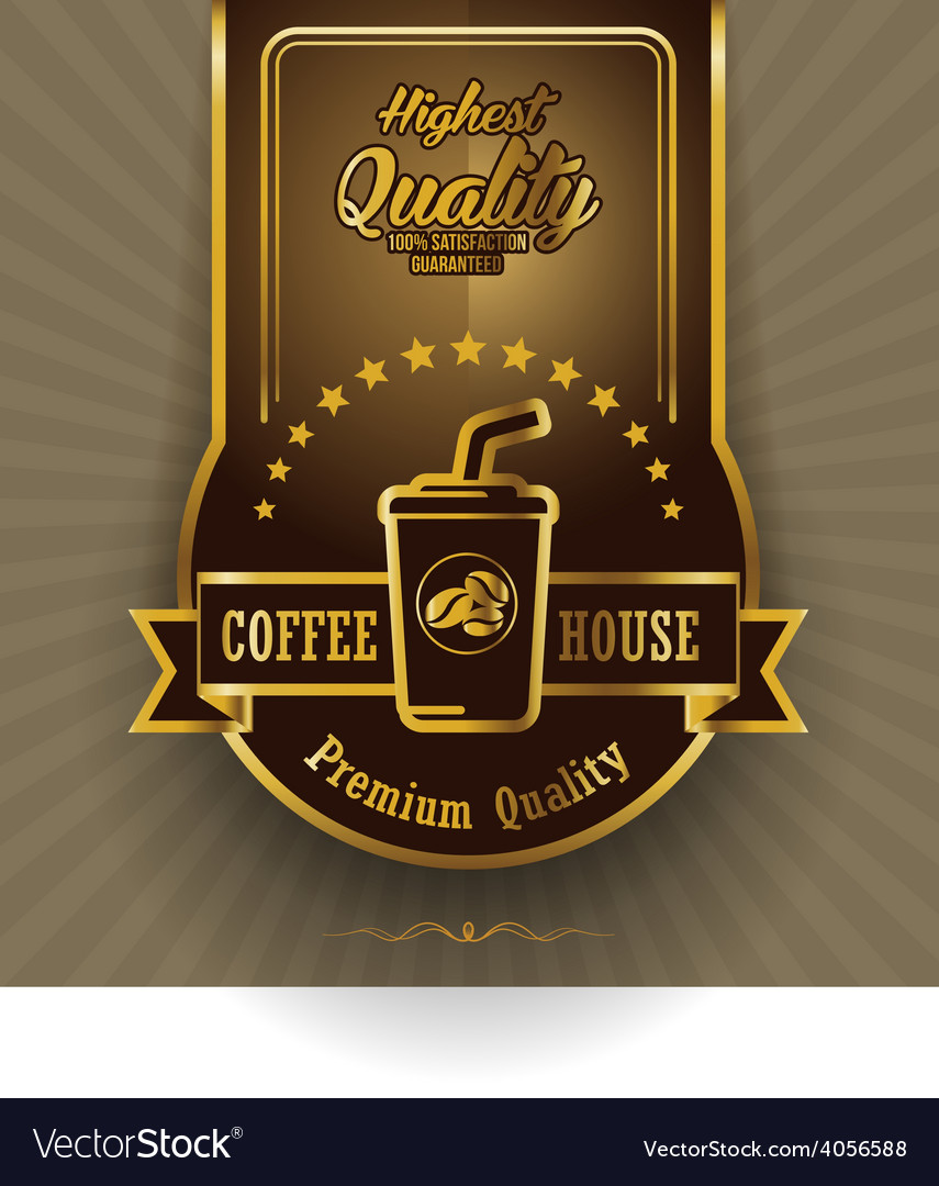 Retro vintage coffee background with label vector | Price: 1 Credit (USD $1)