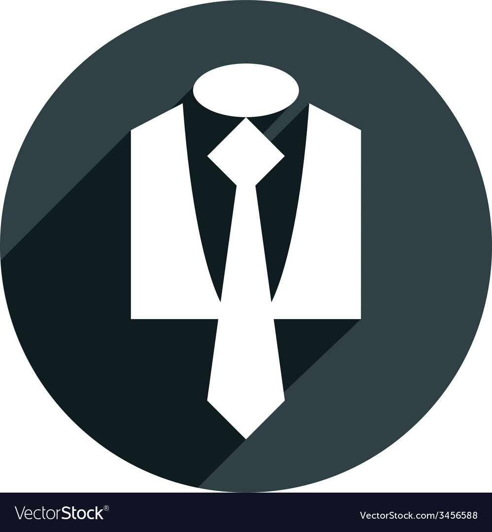 Suit icon isolated vector | Price: 1 Credit (USD $1)