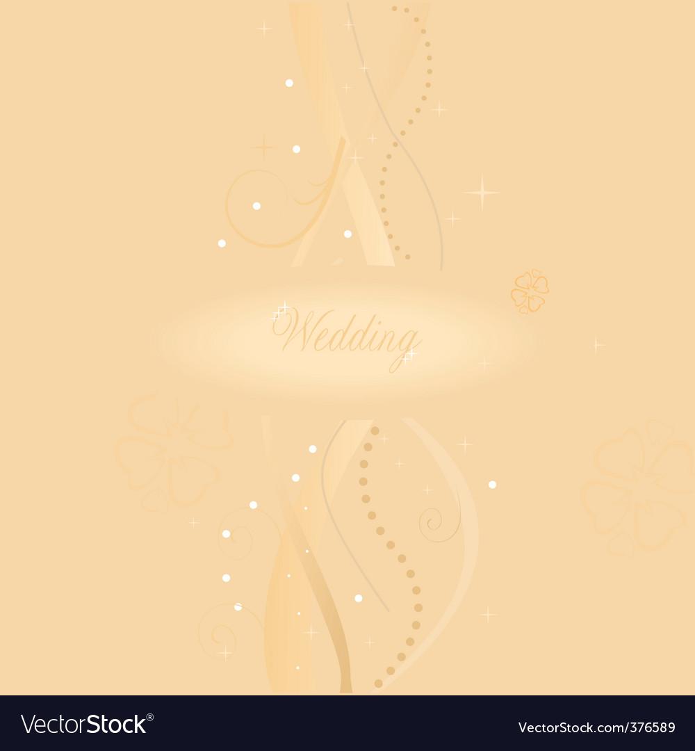 A beautiful beige wedding card vector   Price: 1 Credit (USD $1)