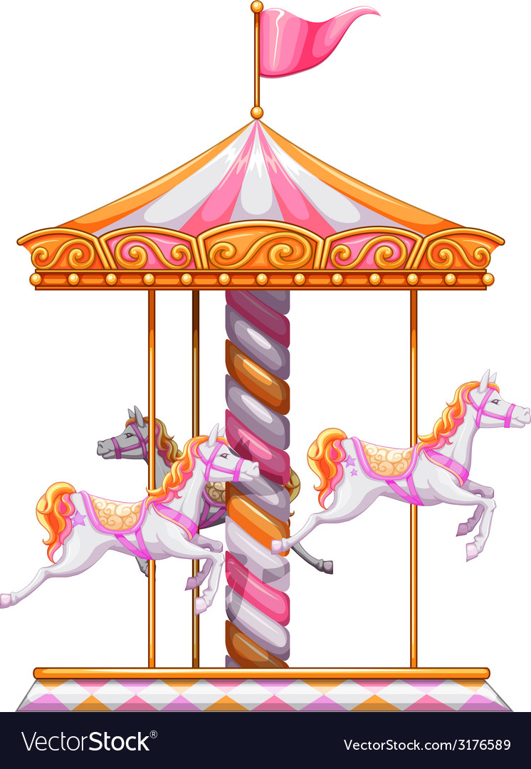 A colourful merry-go-round vector | Price: 1 Credit (USD $1)