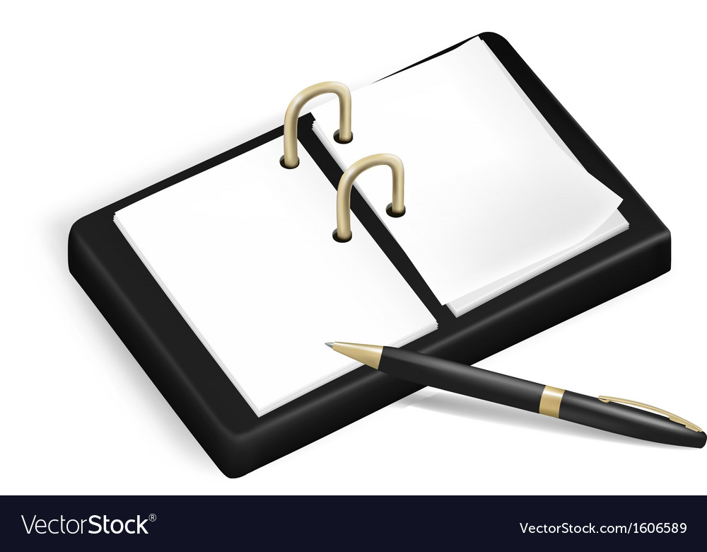 A pencil and a notebook vector | Price: 1 Credit (USD $1)