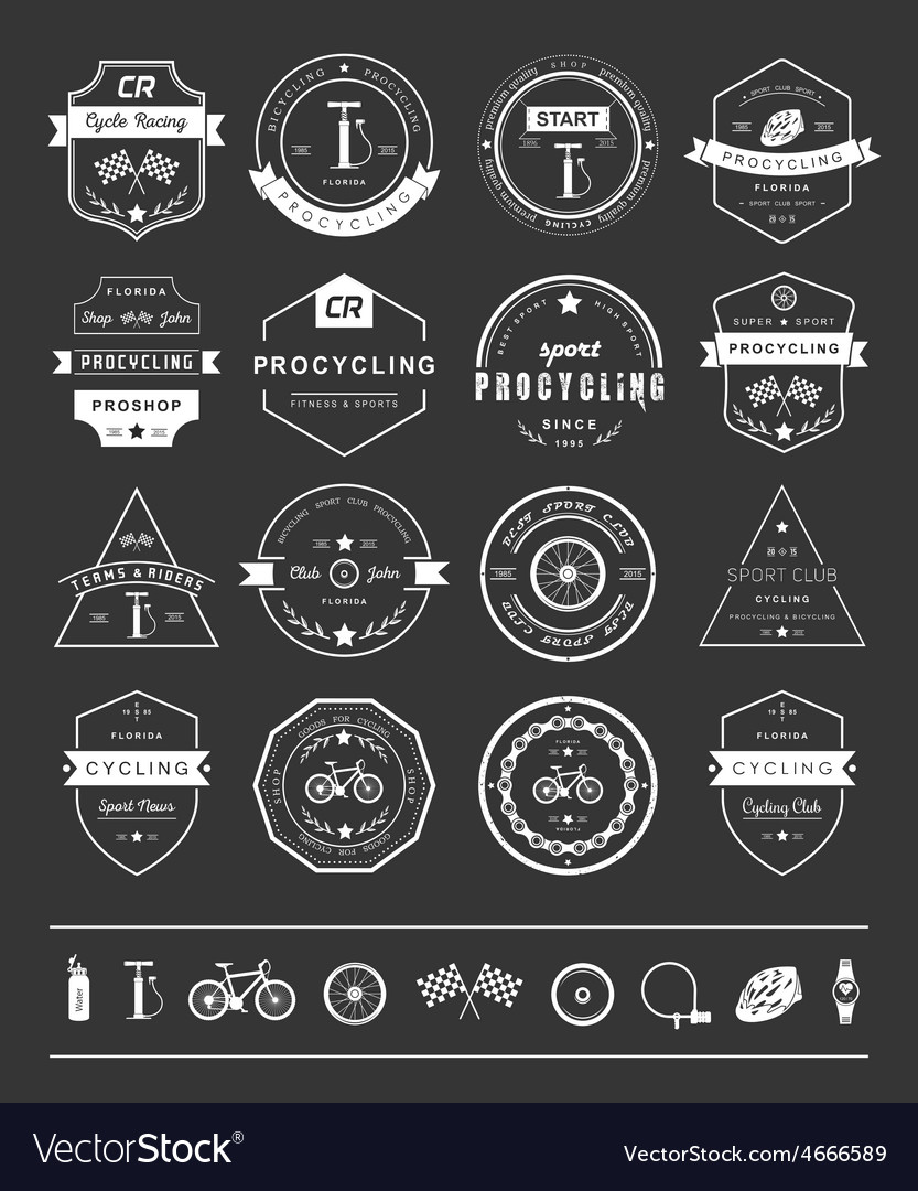 Badges and logos cycling vector   Price: 1 Credit (USD $1)