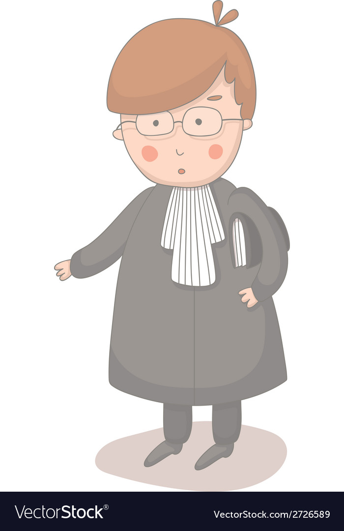 Cartoon of lawyer vector | Price: 1 Credit (USD $1)