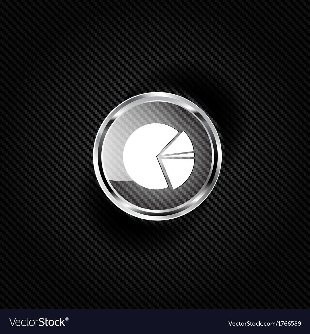 Circular diagram web icon vector | Price: 1 Credit (USD $1)