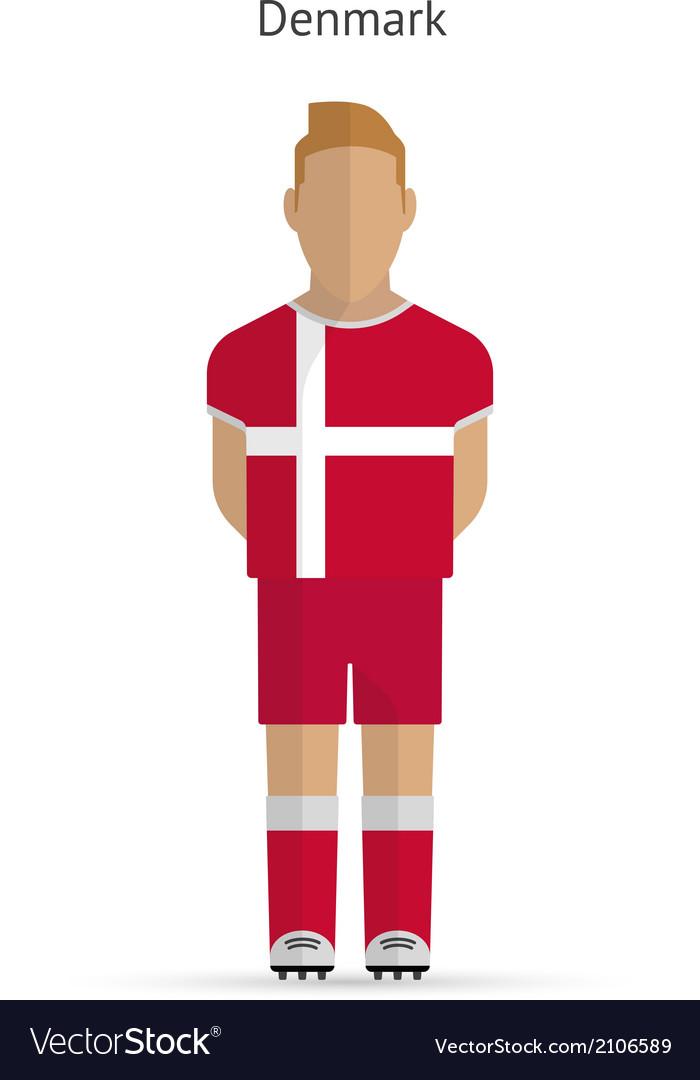 Denmark football player soccer uniform vector | Price: 1 Credit (USD $1)