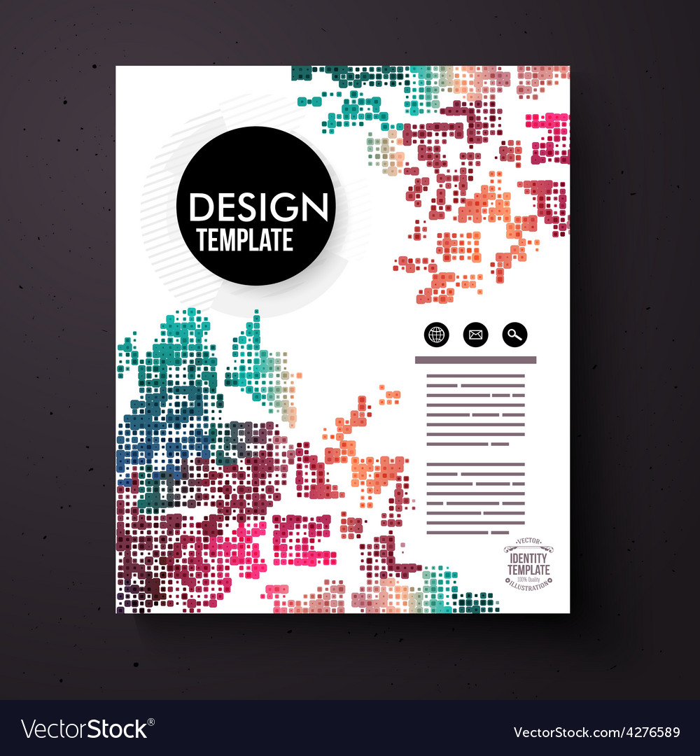 Design template with a colorful abstract pattern vector | Price: 1 Credit (USD $1)