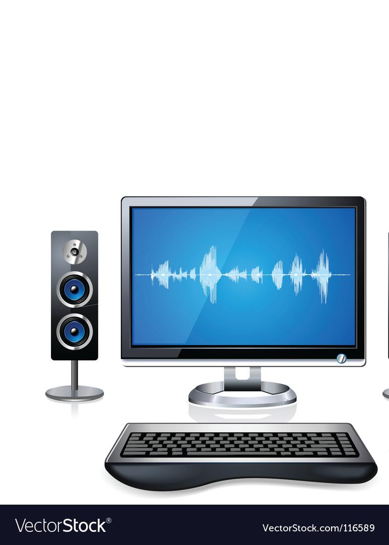 Multimedia computer vector   Price: 3 Credit (USD $3)