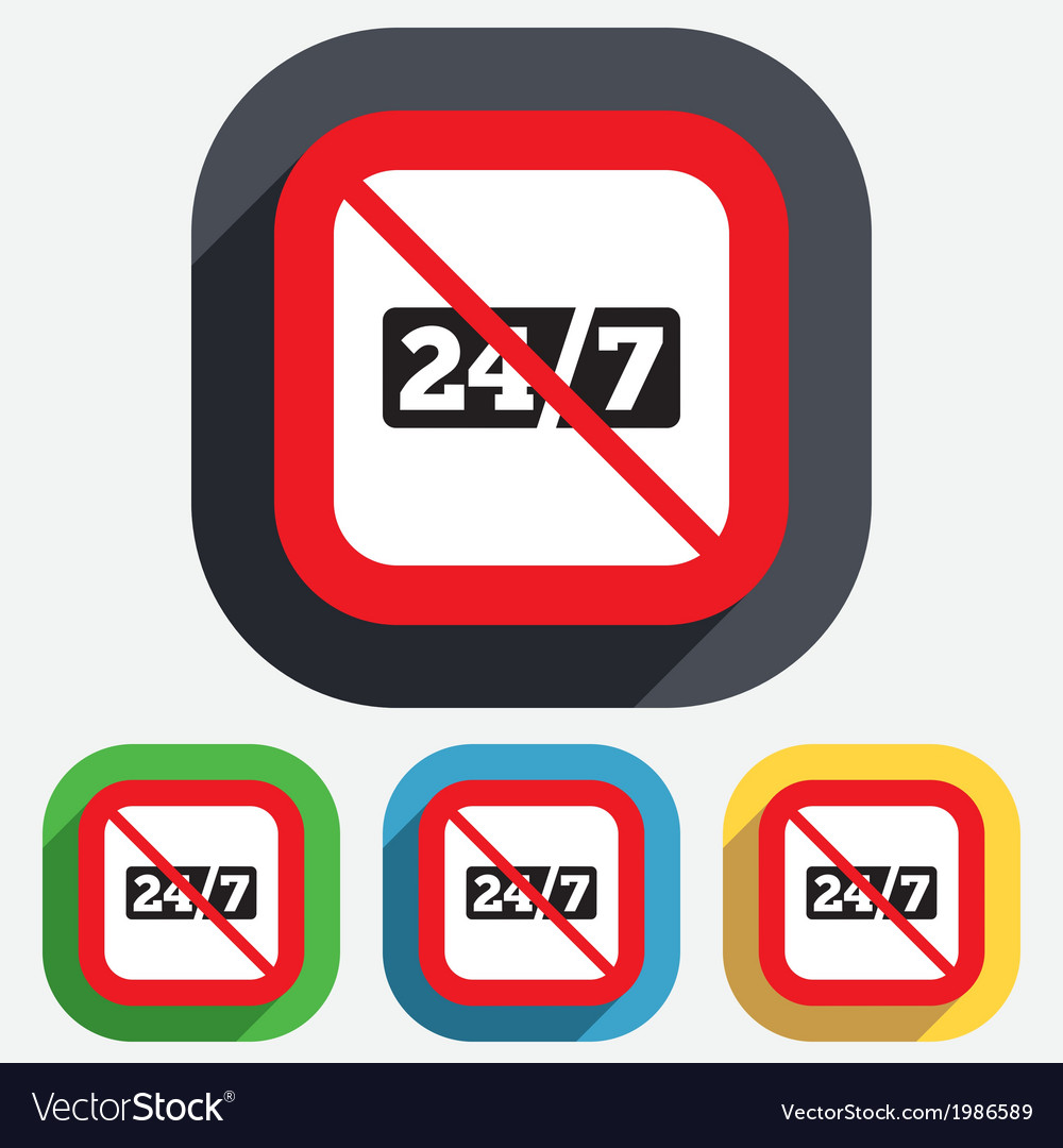No service and support for customers 24 hours vector | Price: 1 Credit (USD $1)