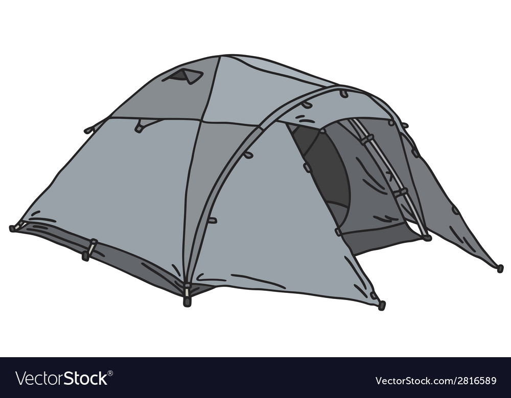 Powder-blue tent vector | Price: 1 Credit (USD $1)