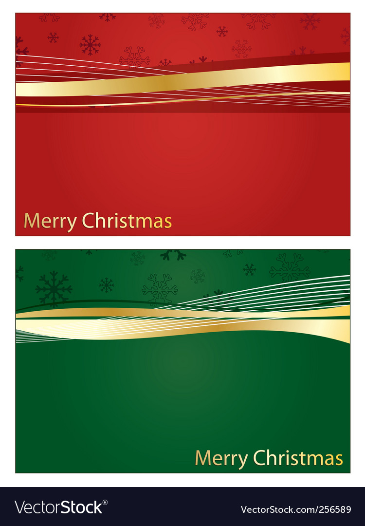 Red and green christmas banners vector | Price: 1 Credit (USD $1)