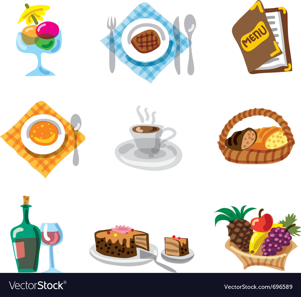 Restaurant icon set vector | Price: 3 Credit (USD $3)