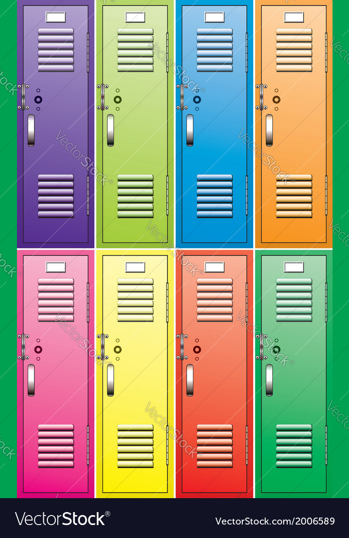 School lockers vector | Price: 1 Credit (USD $1)