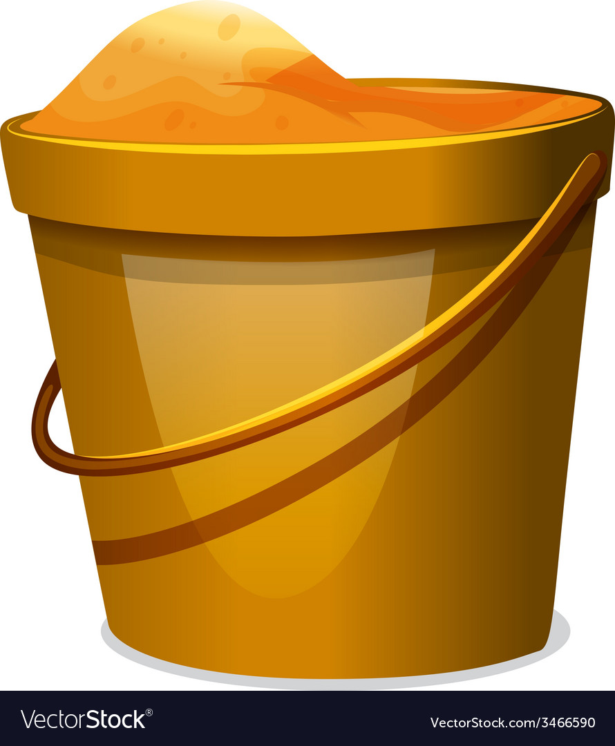 A pail of sand vector | Price: 1 Credit (USD $1)